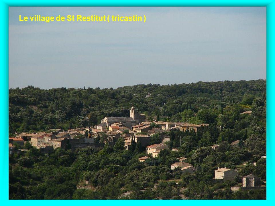 Le village de St Restitut ( tricastin )