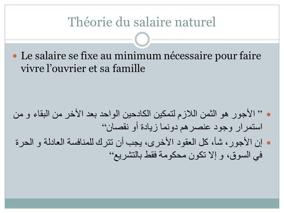 Théorie du salaire naturel