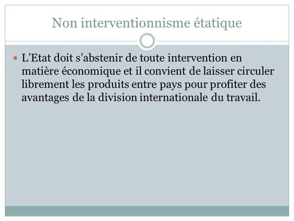 Non interventionnisme étatique