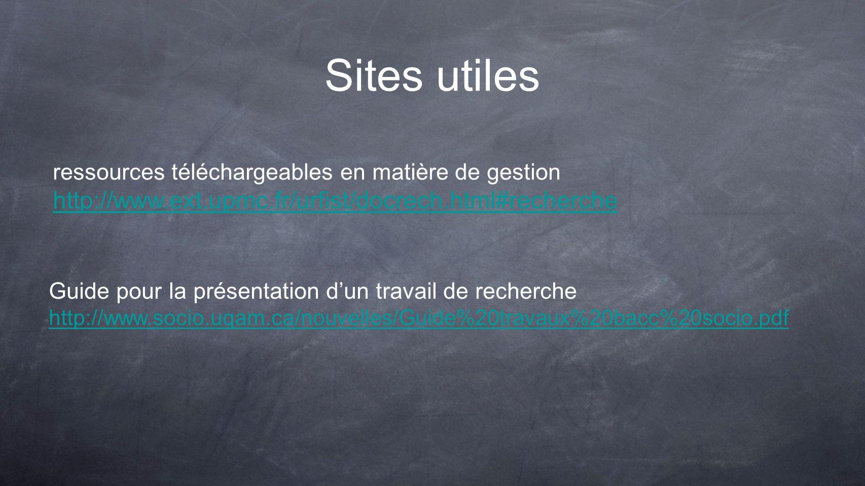Sites utiles http://www.ext.upmc.fr/urfist/docrech.html#recherche