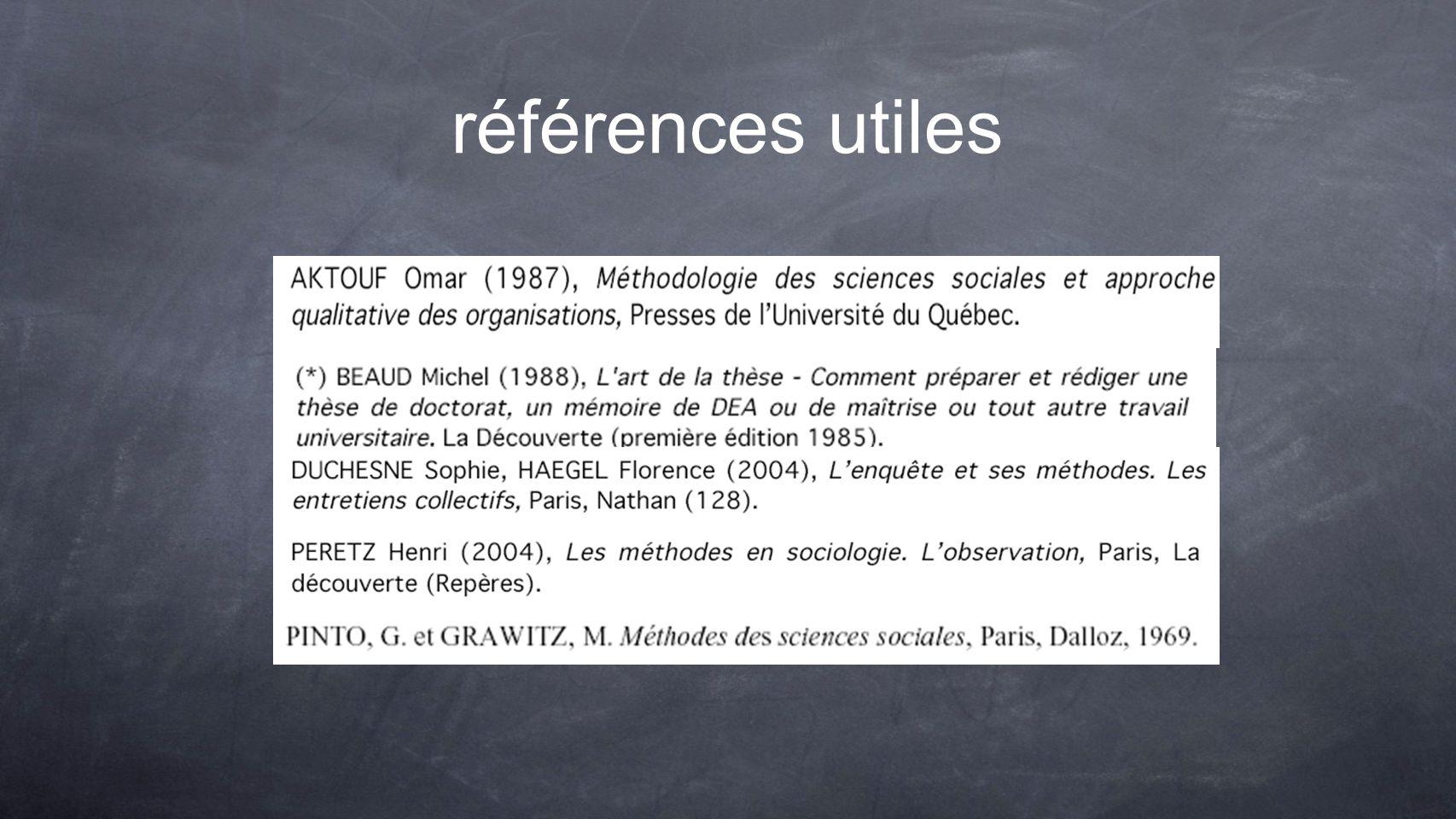 références utiles