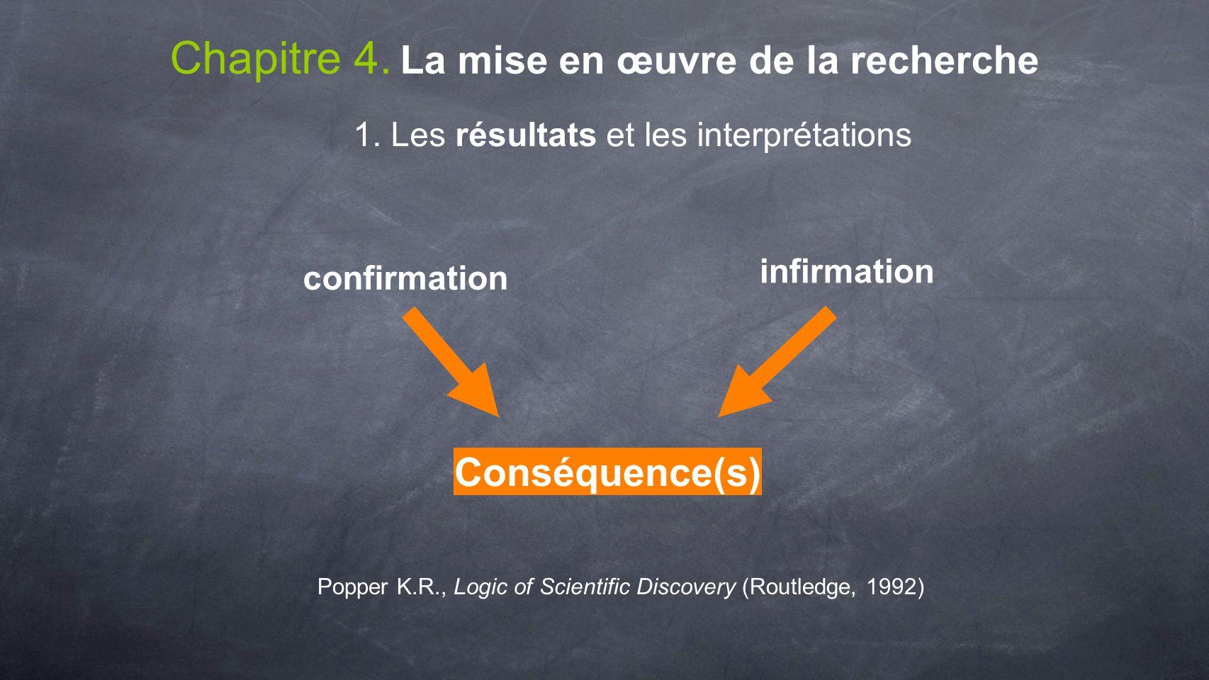 Chapitre 4. La mise en œuvre de la recherche