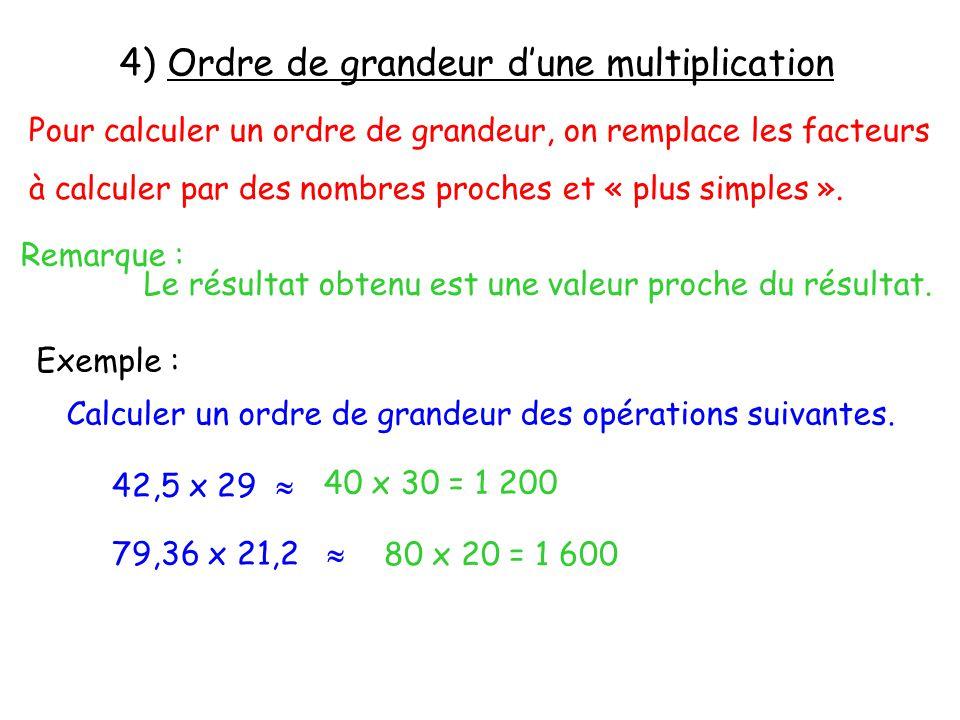 4) Ordre de grandeur d'une multiplication