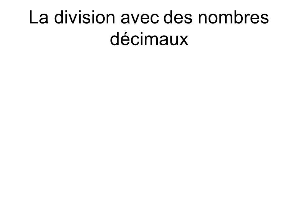 La division avec des nombres décimaux