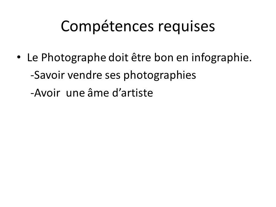 fiche metier photographe
