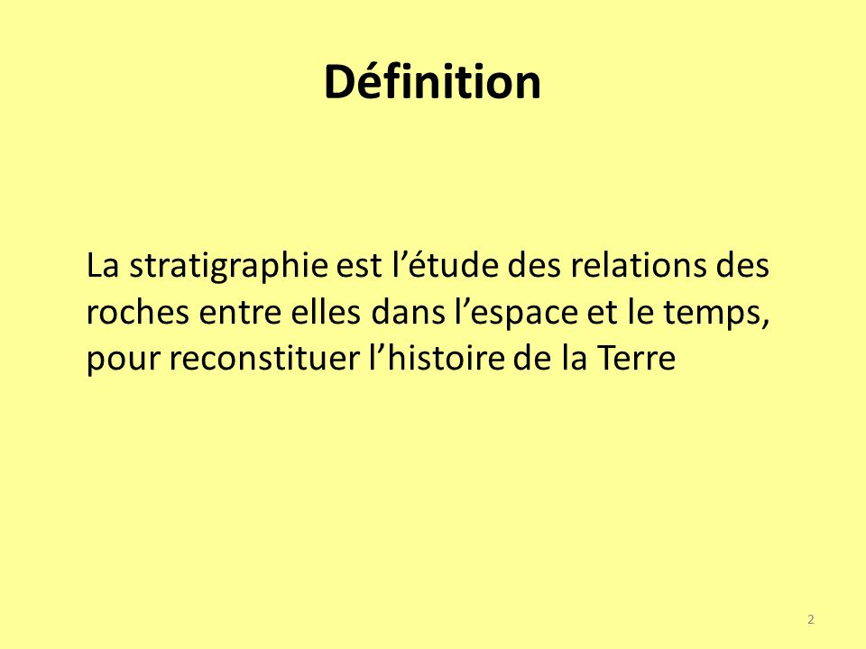 Notions et vocabulaire de base en stratigraphie ppt for Definition de l