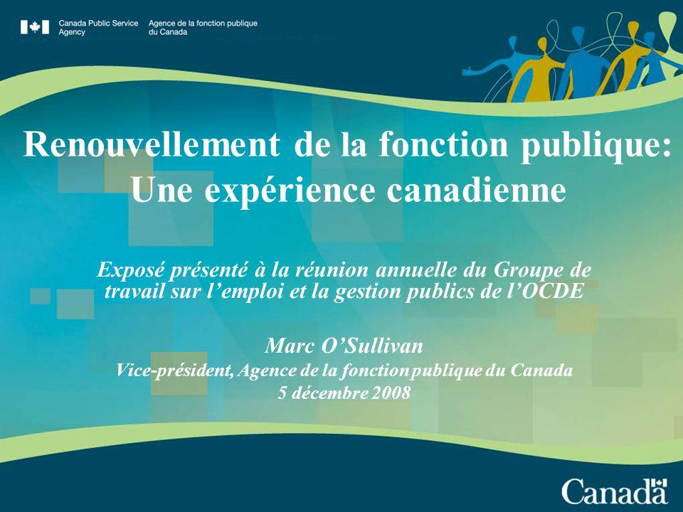renouvellement de la fonction publique une exp 233 rience canadienne ppt t 233 l 233 charger