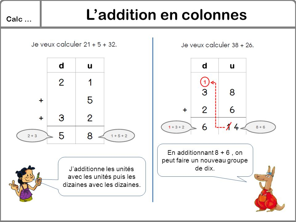 L'addition en colonnes