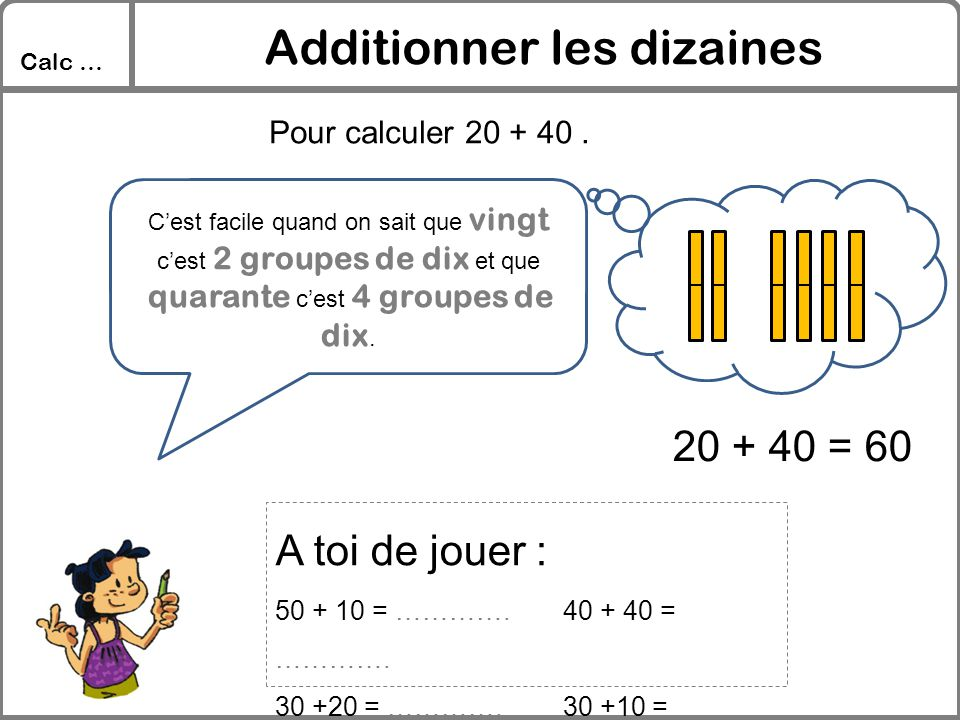 Additionner les dizaines