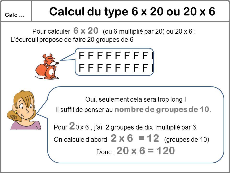 Calcul du type 6 x 20 ou 20 x 6 F F F F F F F F F