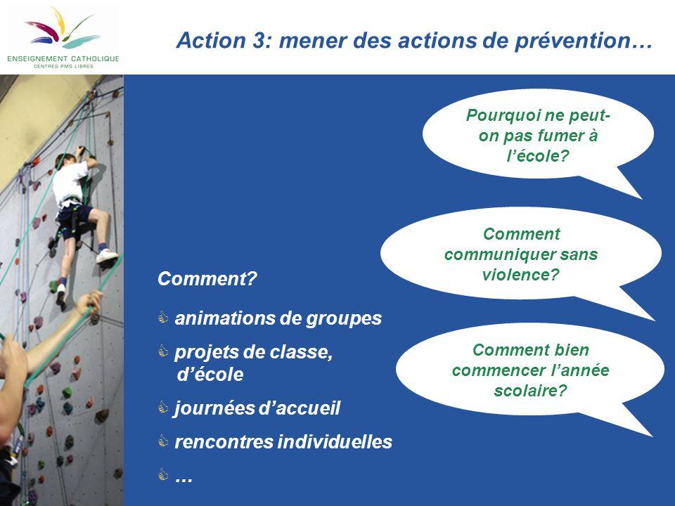 Action 3: mener des actions de prévention…