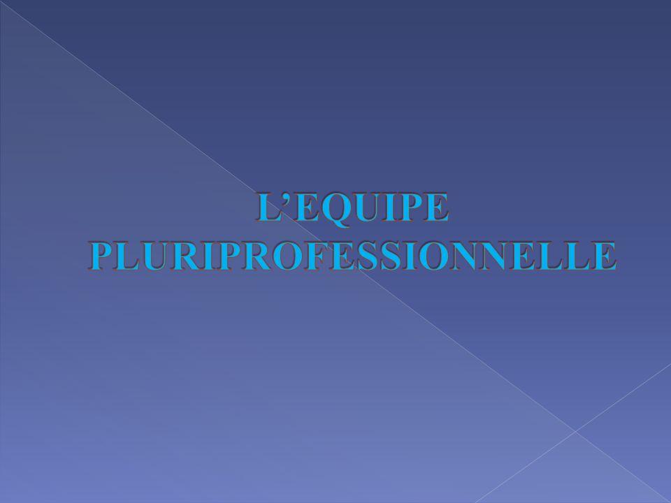 L'EQUIPE PLURIPROFESSIONNELLE
