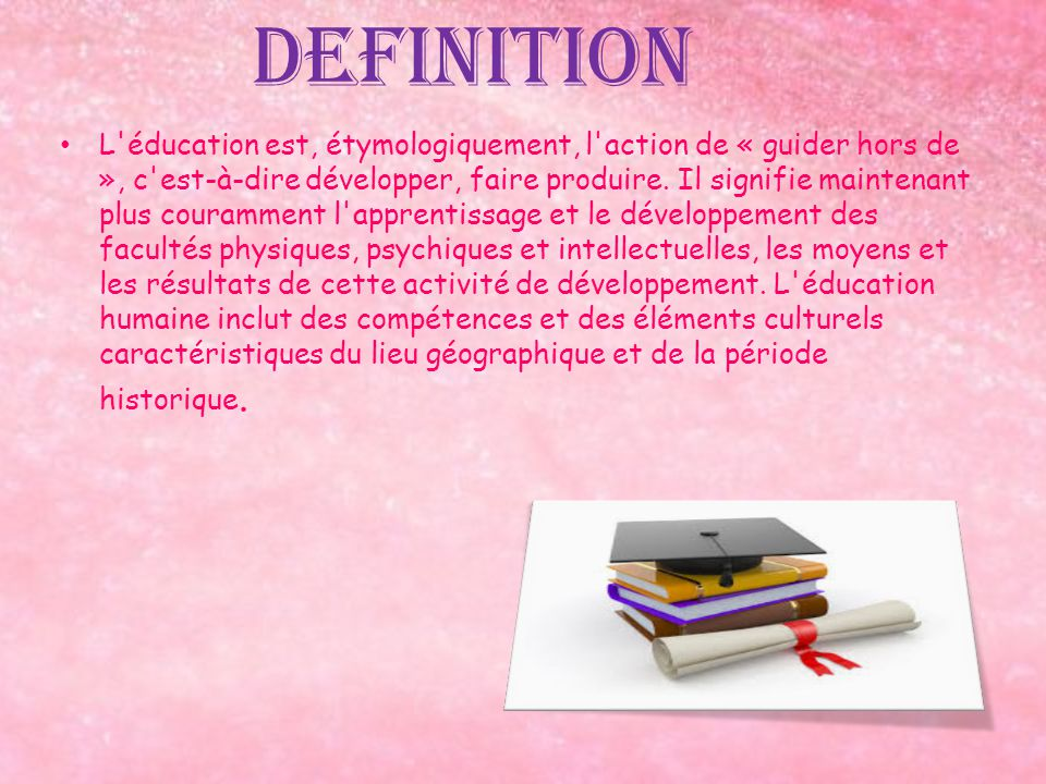 Ducation ducation definition l 39 ducation est for Definition de l