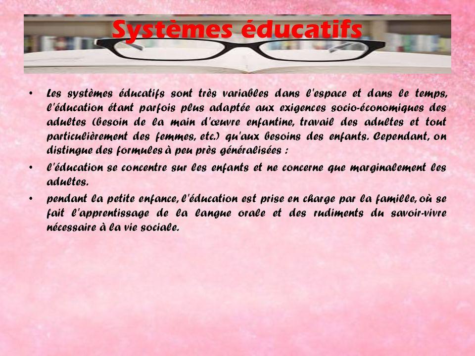 Systèmes éducatifs