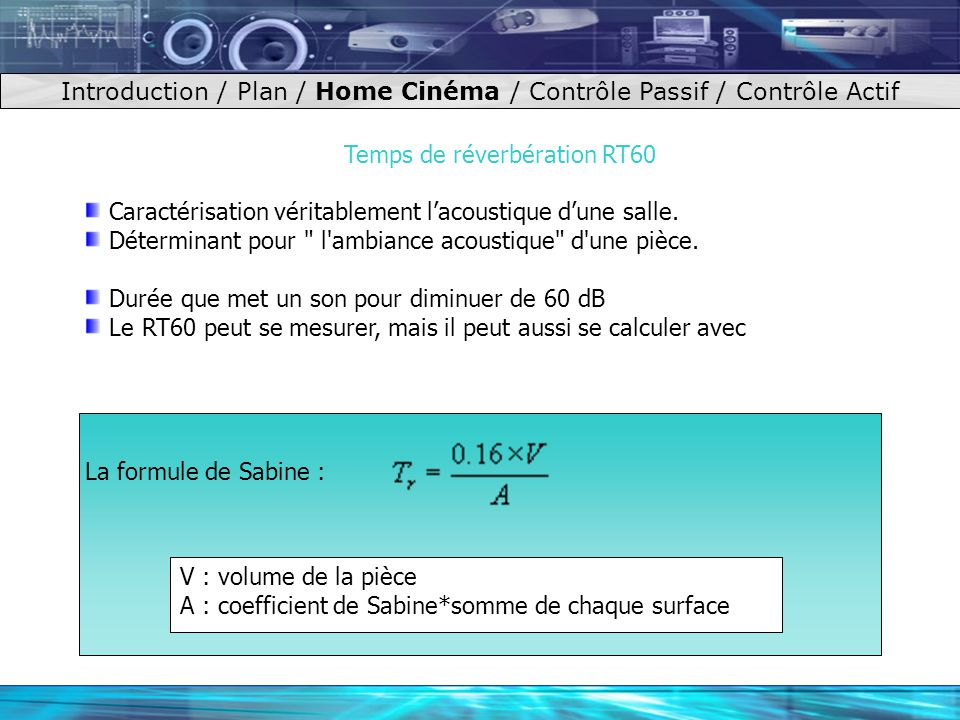 Insonorisation ppt video online t l charger for Calculer son volume de demenagement