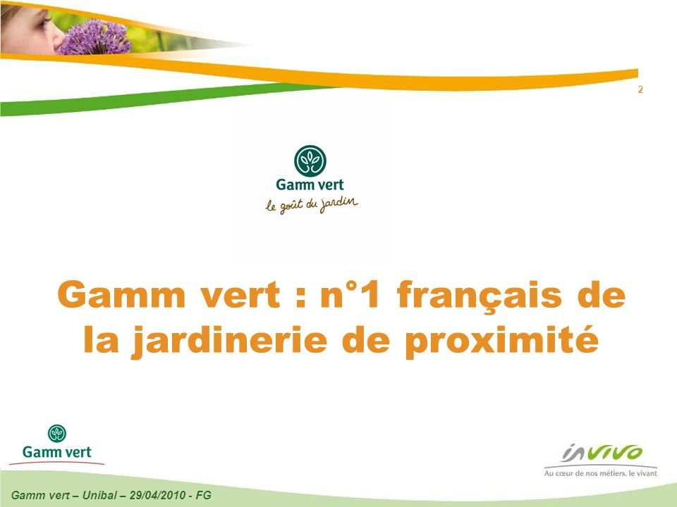 13 04 2017 gamm vert unibal 29 04 fg ppt video for Jardinerie online