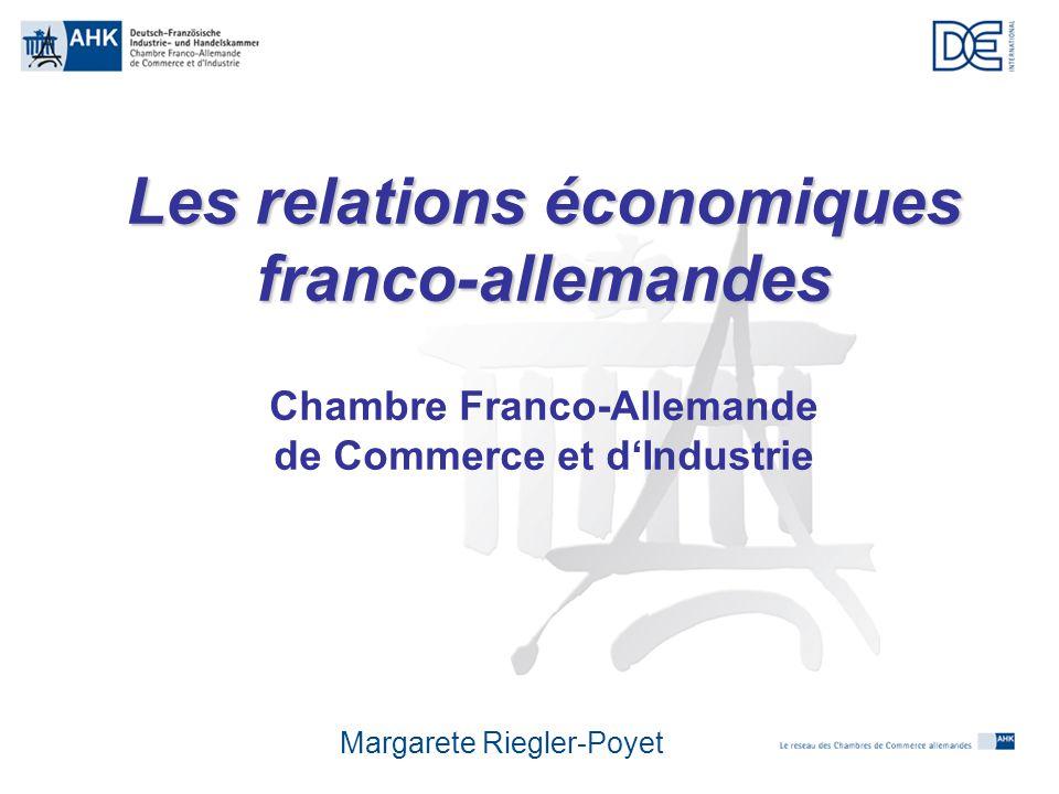 Les Relations conomiques FrancoAllemandes  Ppt Tlcharger