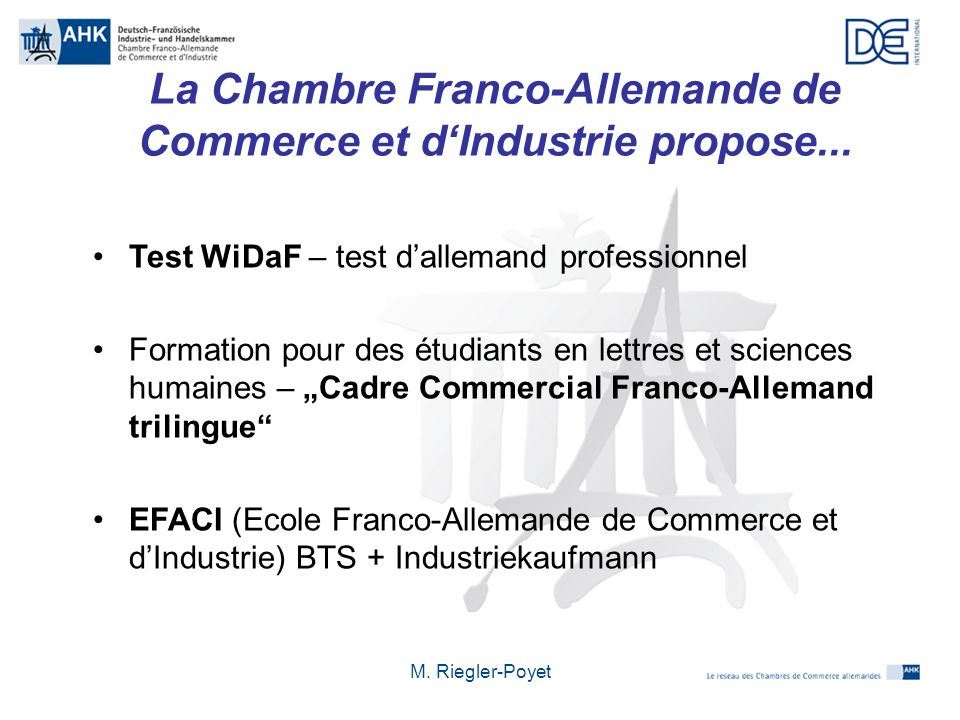 Les relations conomiques franco allemandes ppt t l charger - Chambre de commerce et d industrie de paris ...