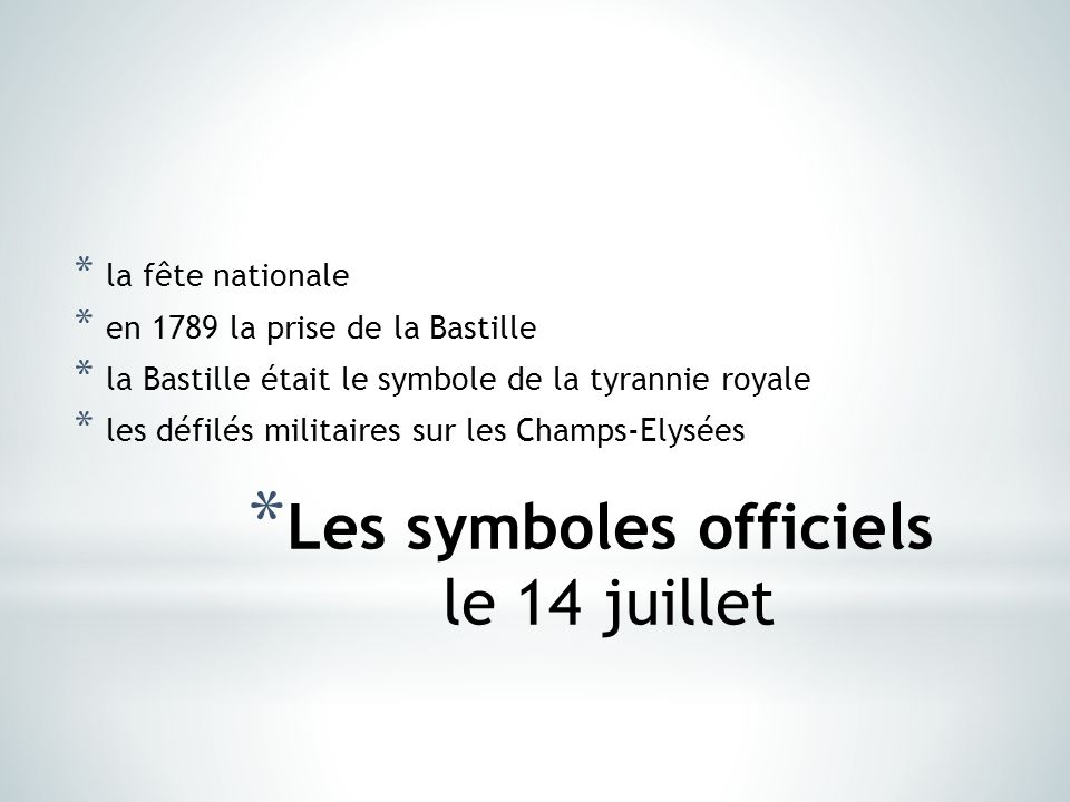 symbole fête nationale