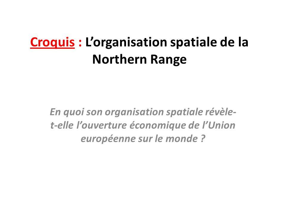 Croquis : L'organisation spatiale de la Northern Range