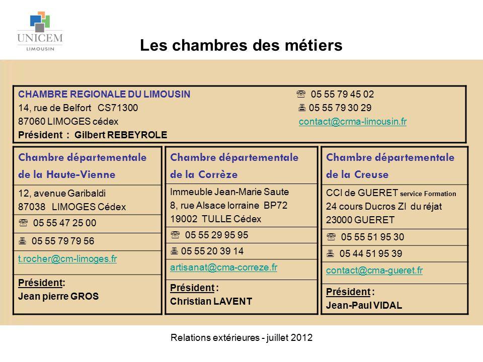 Relations ext rieures juillet ppt video online t l charger - Chambre des metiers de la haute garonne ...