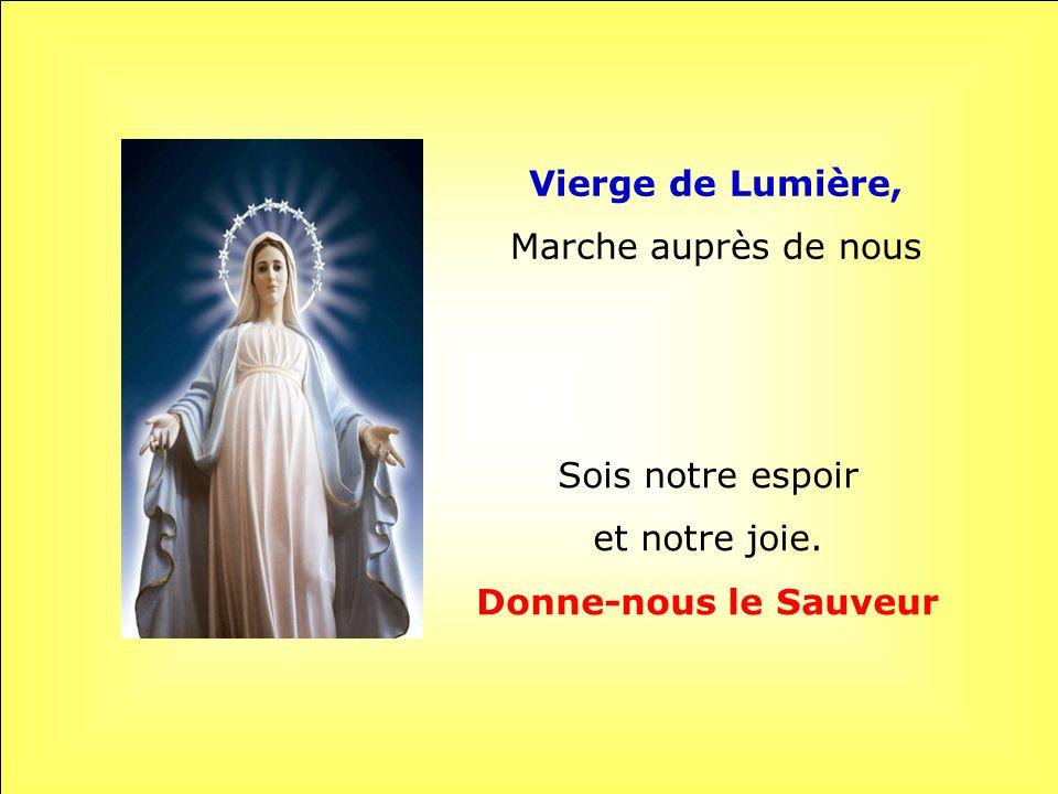 Vierge de Lumière, Donne-nous le Sauveur