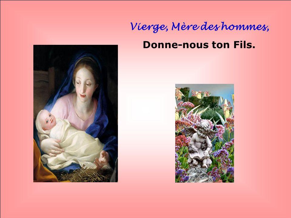 Vierge, Mère des hommes, Donne-nous ton Fils. . .