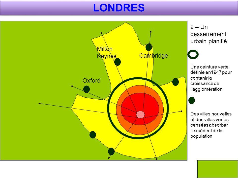 LONDRES 2 – Un desserrement urbain planifié Milton Keynes Cambridge