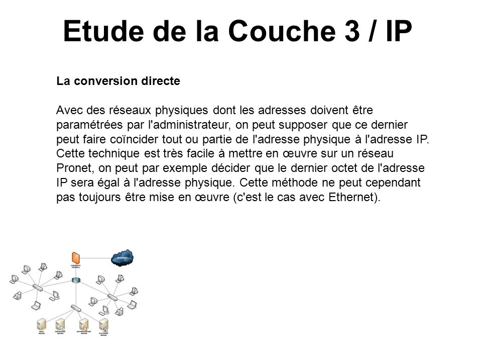 Etude de la Couche 3 / IP La conversion directe