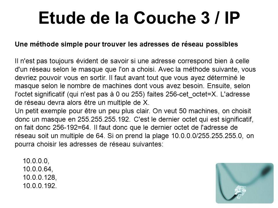 Etude de la Couche 3 / IP