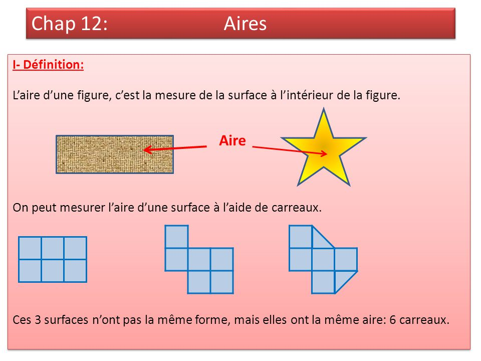 Chap 12 aires ppt t l charger for Definition de l
