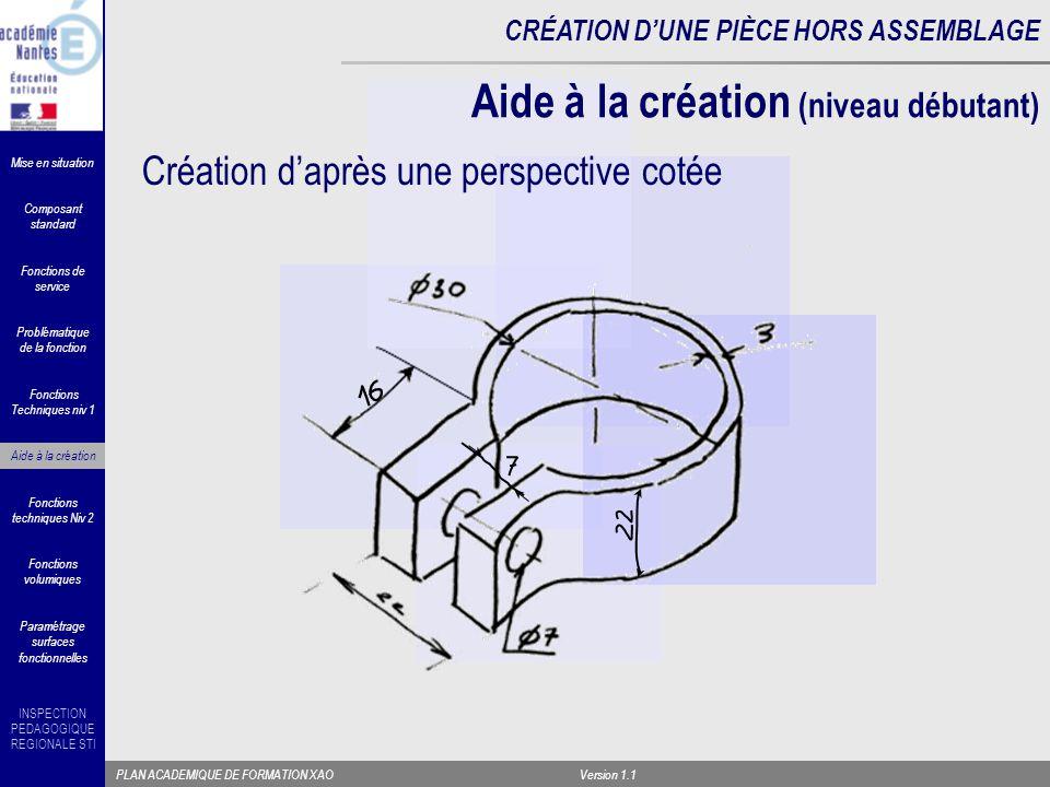 Aide à la création (niveau débutant)