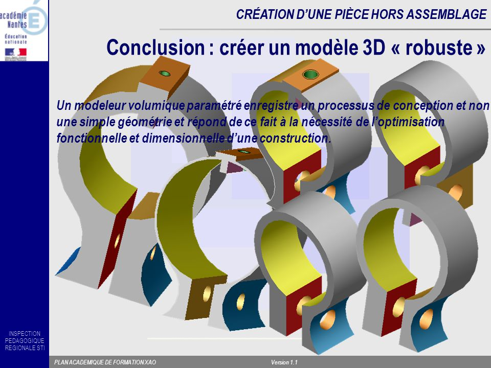 Conclusion : créer un modèle 3D « robuste »