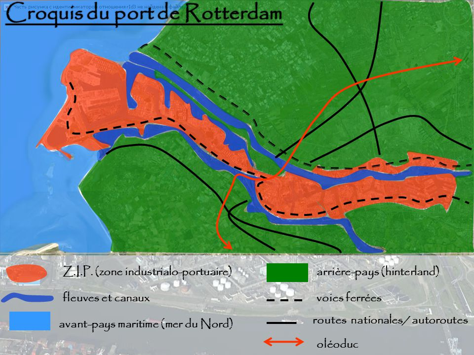 Croquis du port de Rotterdam