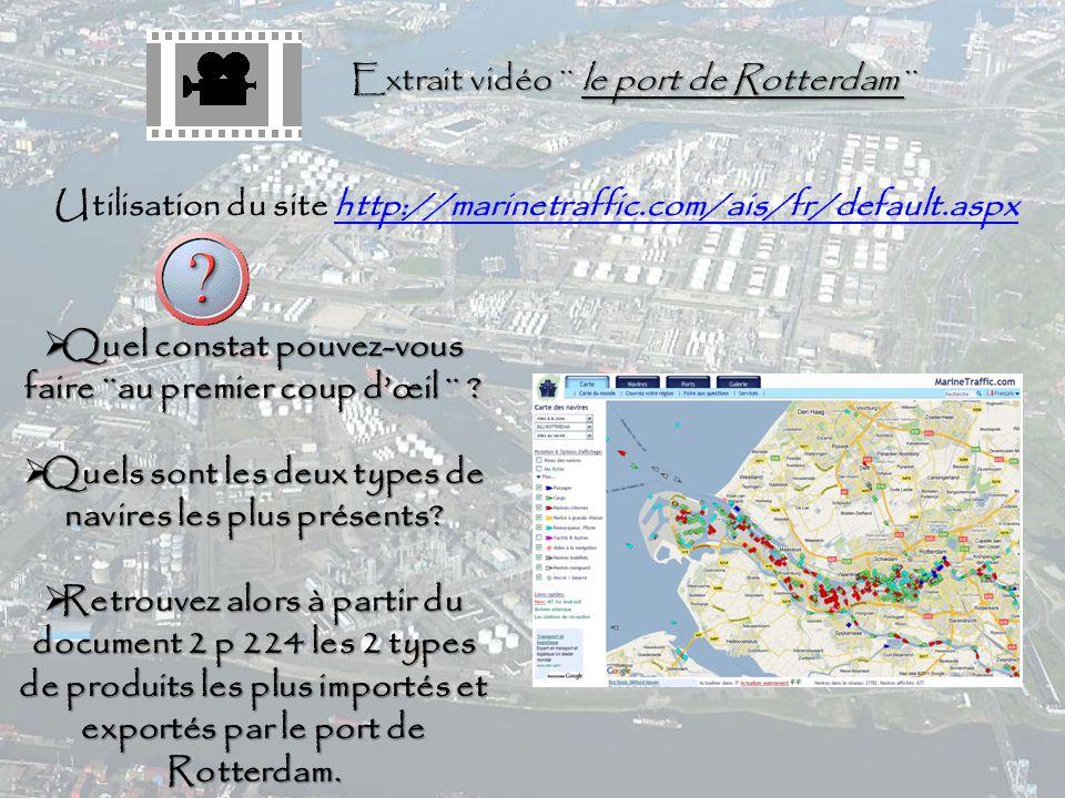Extrait vidéo ¨ le port de Rotterdam ¨