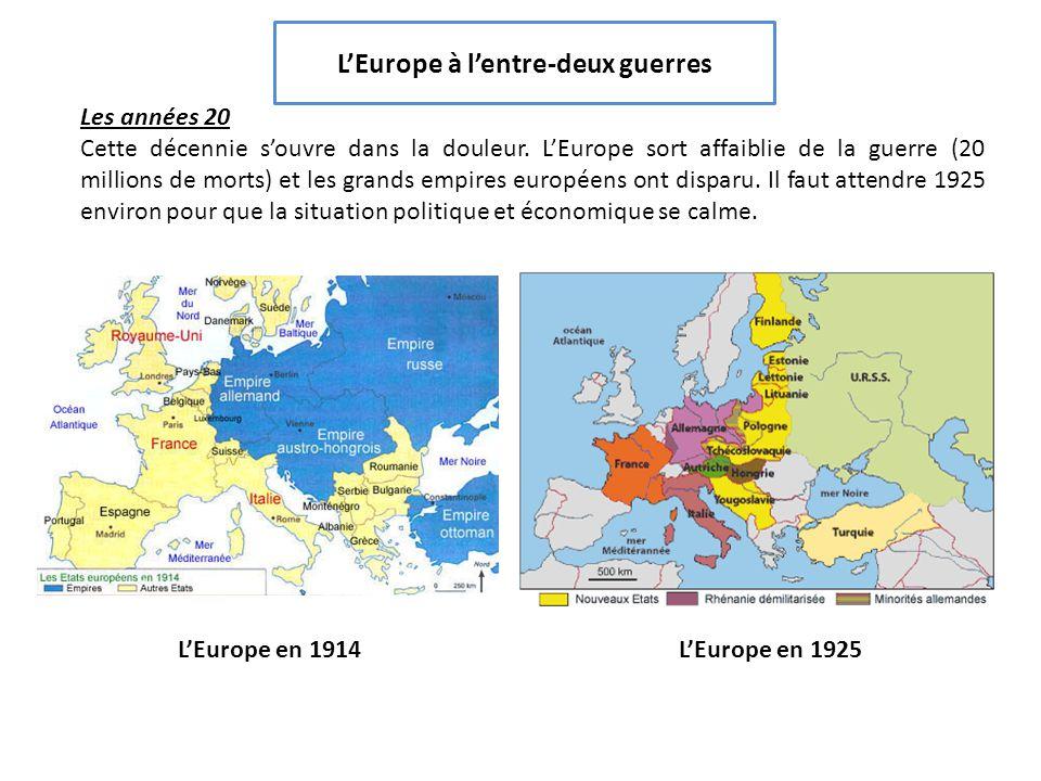 l'europe de l'entre deux guerres 3eme
