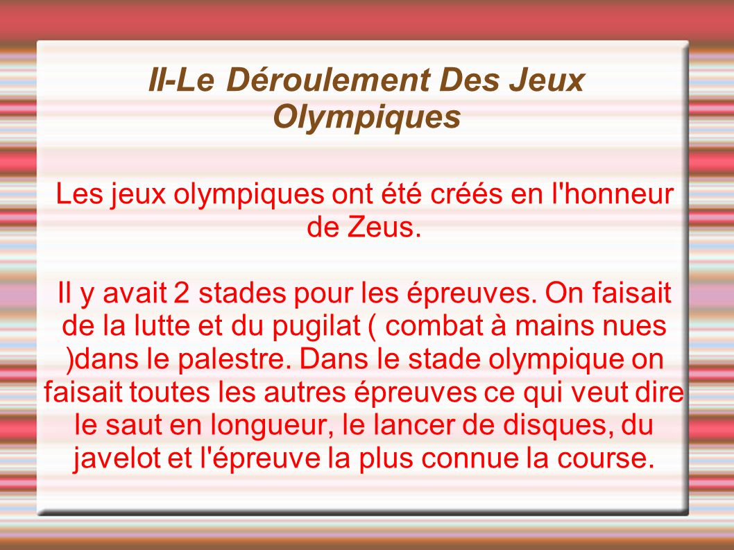 les jeux olympiques ppt video online t l charger. Black Bedroom Furniture Sets. Home Design Ideas