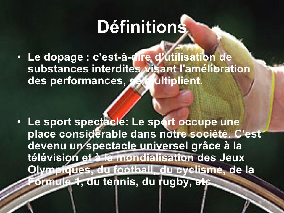Le dopage est il un frein au d veloppement du sport spectacle ppt video online t l charger - Le tennis de table est il un sport ...