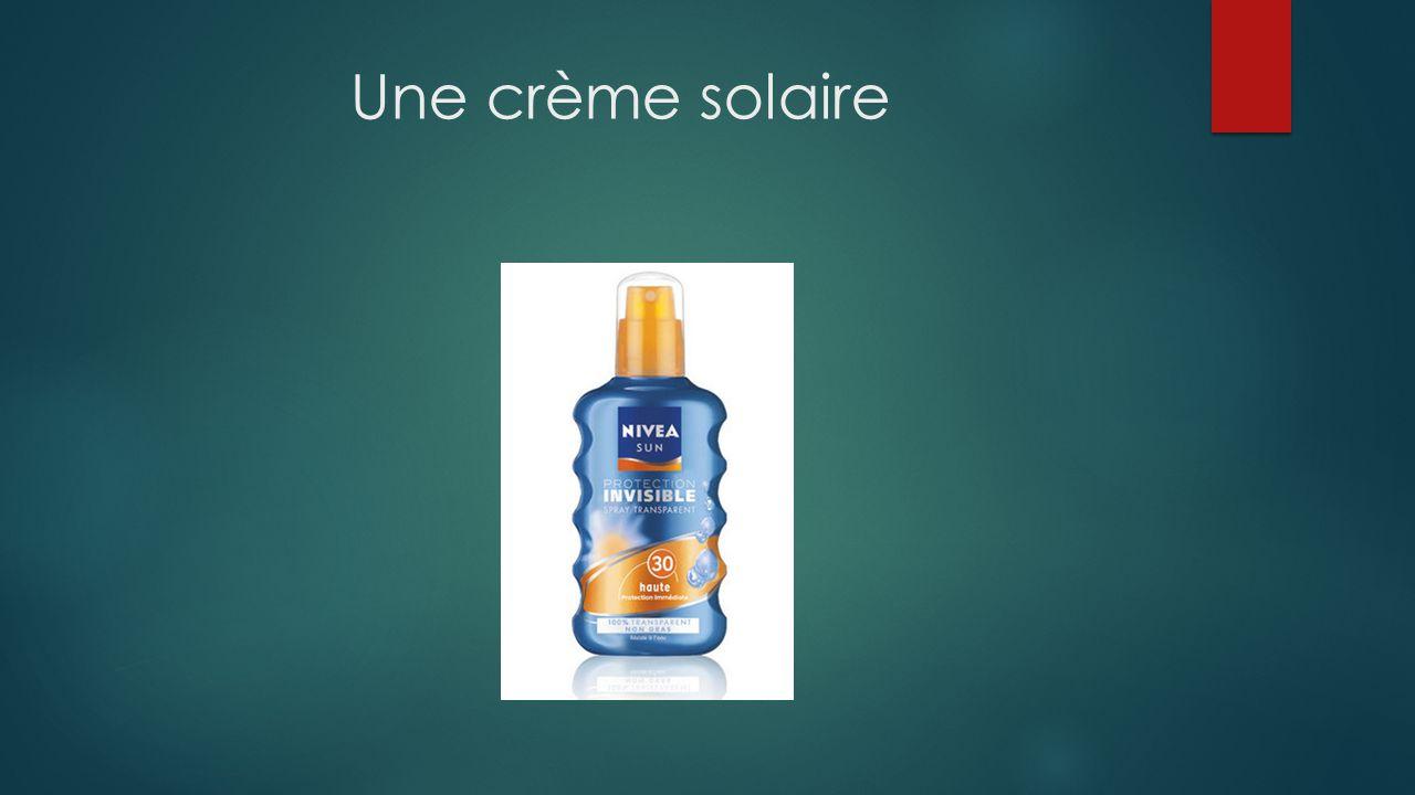Une crème solaire