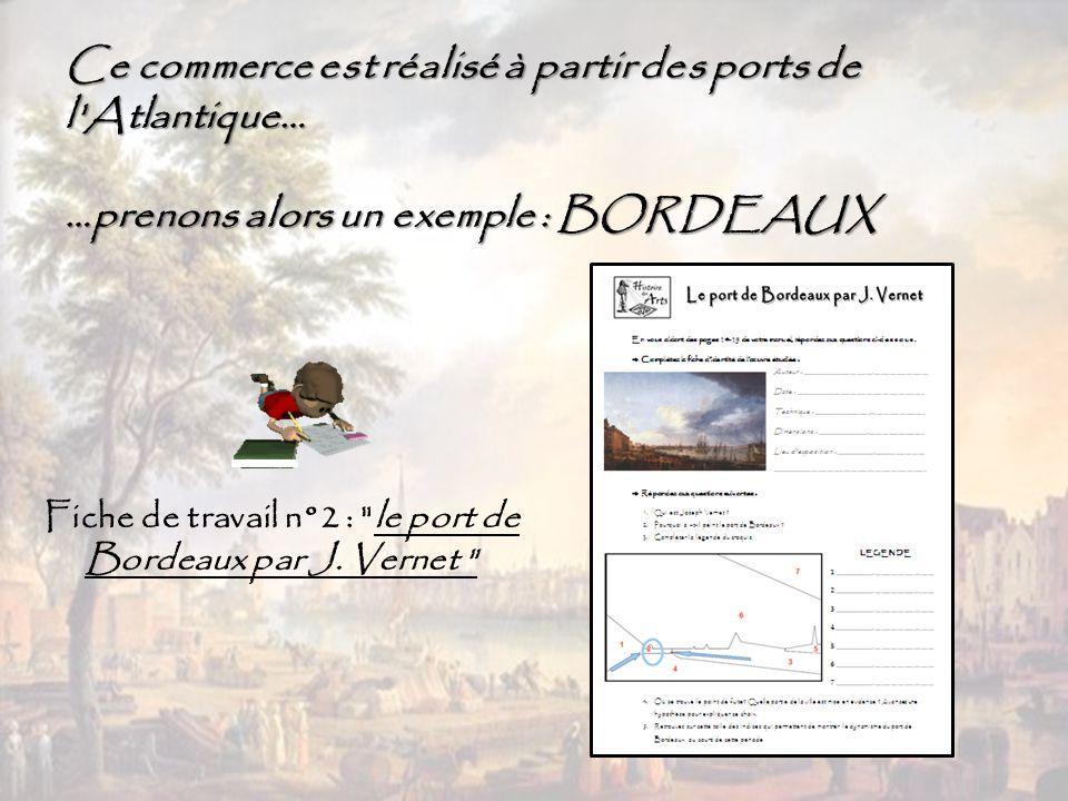 Fiche de travail n°2 : le port de Bordeaux par J. Vernet