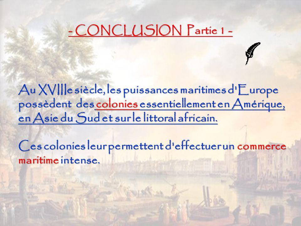 - CONCLUSION Partie 1 -