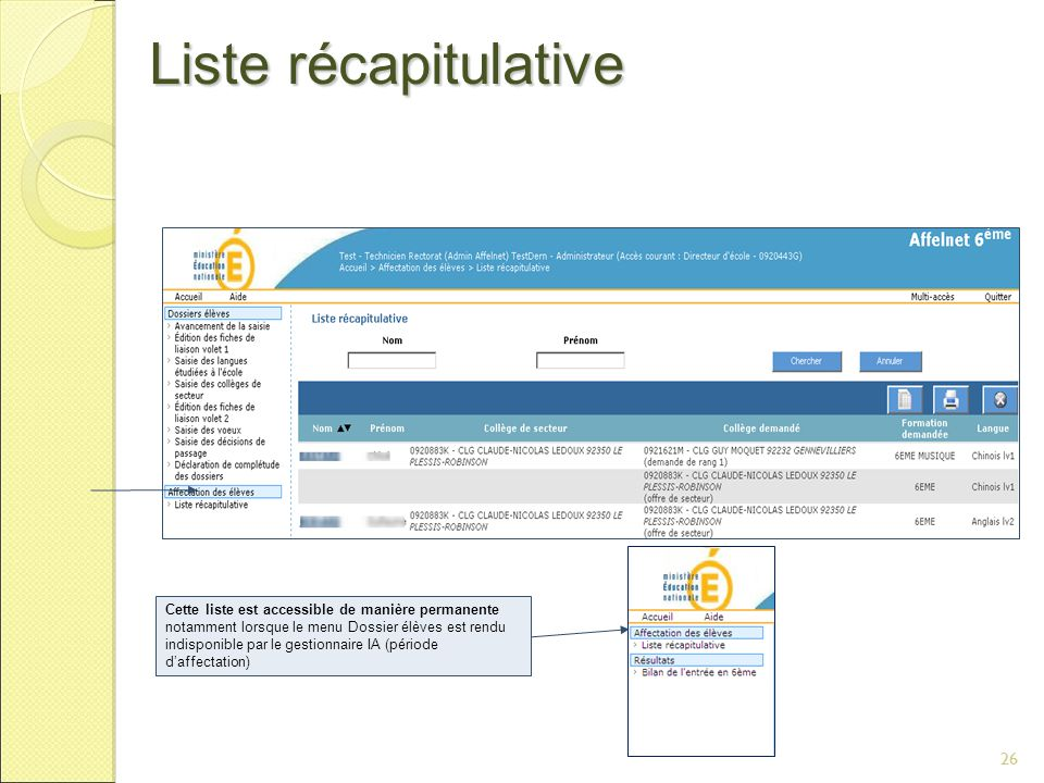 Liste récapitulative 26 DSI Nancy