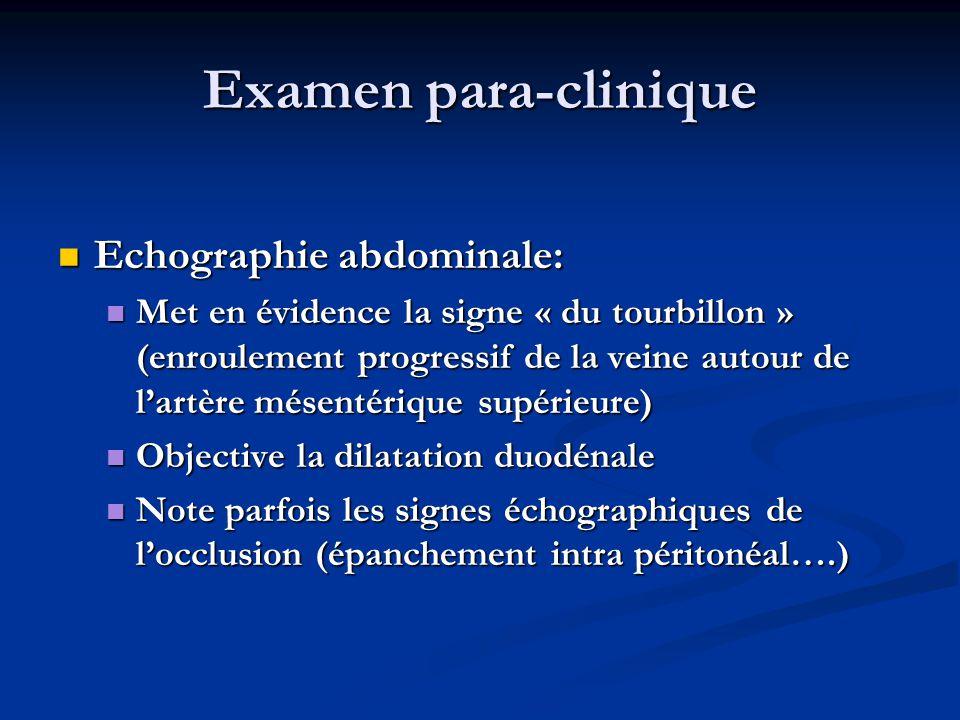 Examen para-clinique Echographie abdominale: