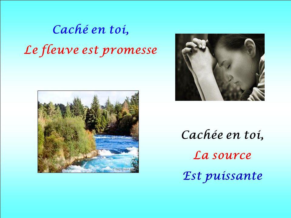 Caché en toi, Le fleuve est promesse Cachée en toi, La source Est puissante