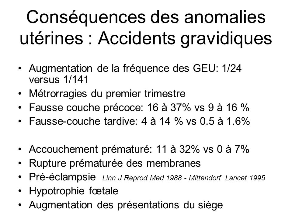 Malformations g nitales ppt t l charger - Anomalie chromosomique fausse couche ...