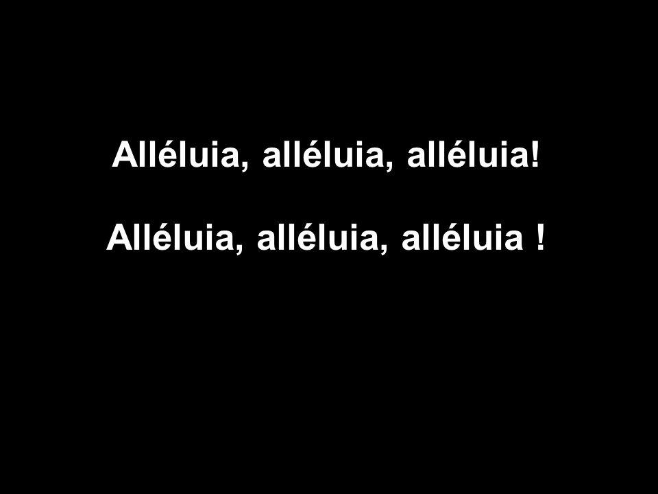 Alléluia, alléluia, alléluia! Alléluia, alléluia, alléluia !
