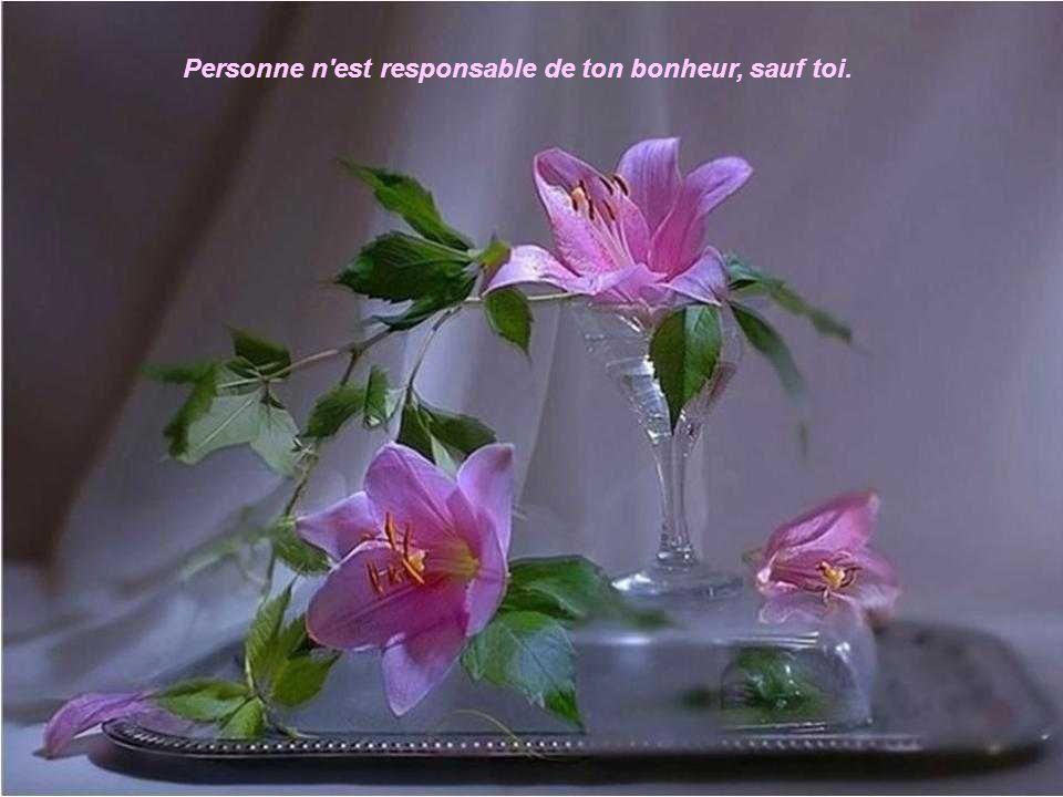 Personne n est responsable de ton bonheur, sauf toi.