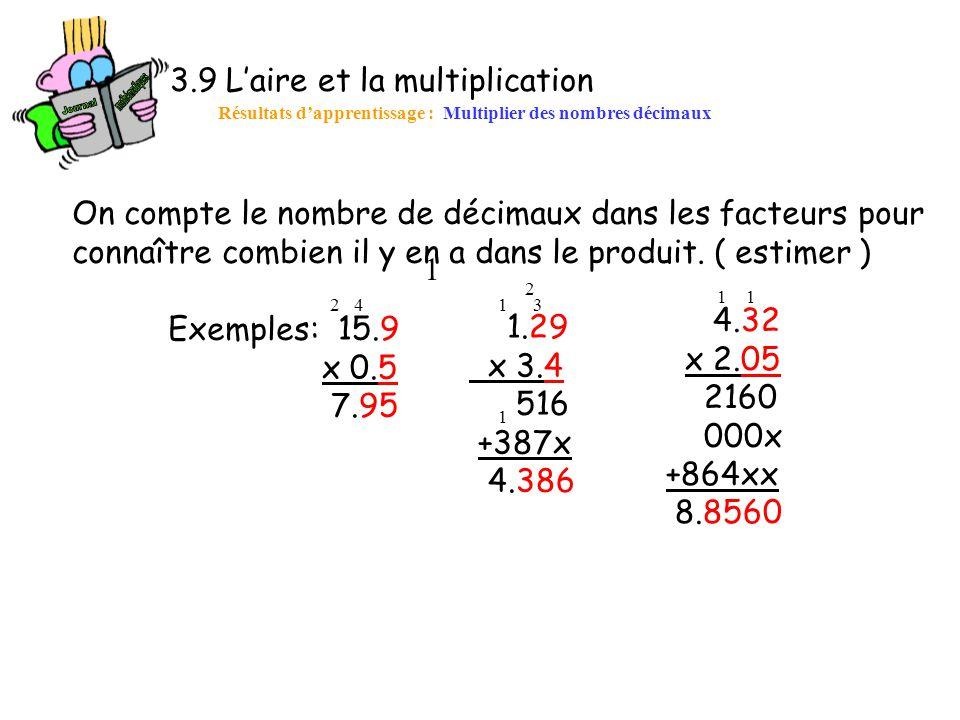 3.9 L'aire et la multiplication