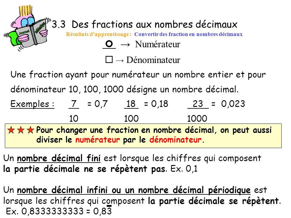 3.3 Des fractions aux nombres décimaux