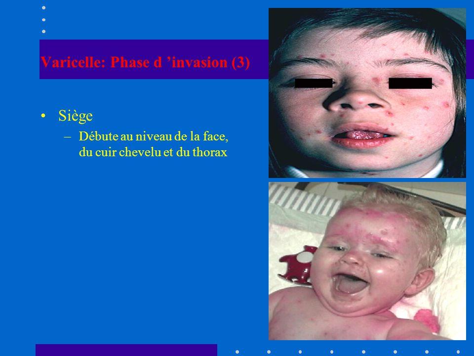 Varicelle: Phase d 'invasion (3)